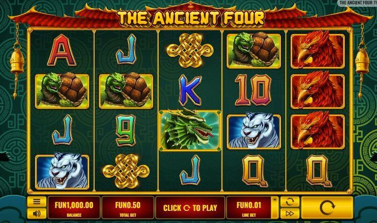 Ancient Four Slot Dragon, Phoenix, Tiger, Turtle  slot online the best